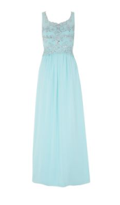 Mint Green Embellished 2 in 1 Maxi Dress