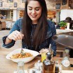 Jacinta Dawn Eating Pasta at Vapiano